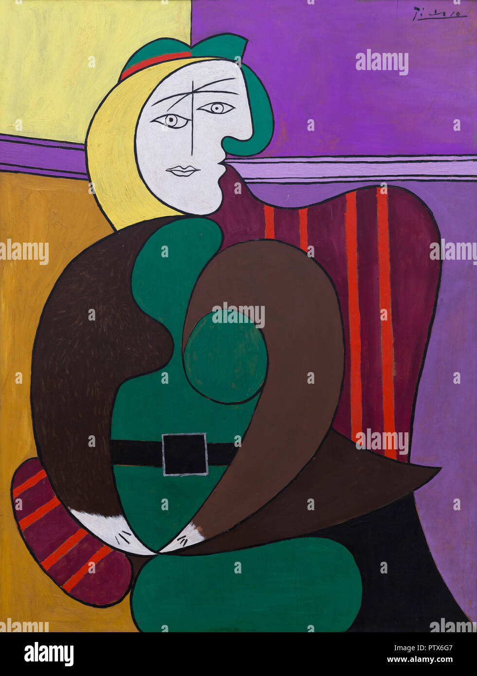 The Red Armchair, Pablo Picasso, 1931, Art Institute of Chicago, Chicago, Illinois, USA, North America - Stock Image