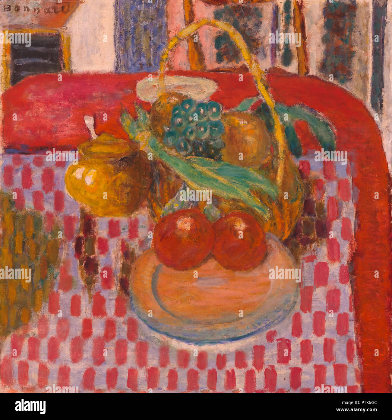 The Checkered Tablecloth, Pierre Bonnard, 1939, Art Institute of Chicago, Chicago, Illinois, USA, North America - Stock Image