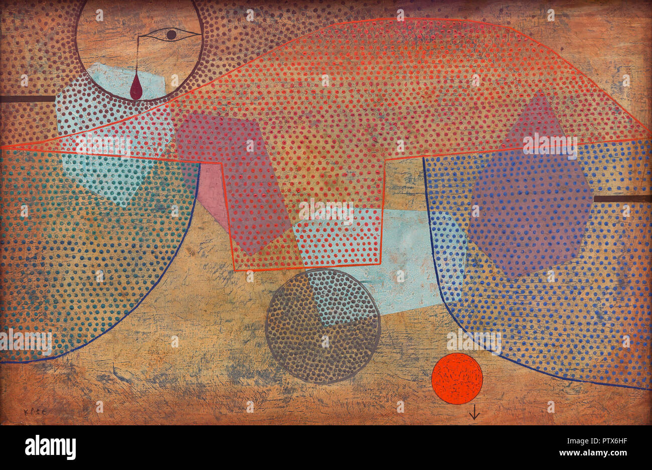 Sunset,  Paul Klee, 1930, Art Institute of Chicago, Chicago, Illinois, USA, North America - Stock Image