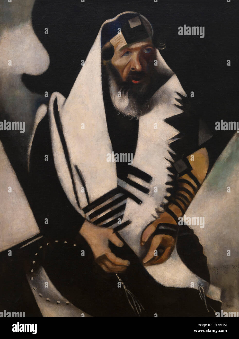 The Praying Jew, Marc Chagall, 1923, Art Institute of Chicago, Chicago, Illinois, USA, North America - Stock Image