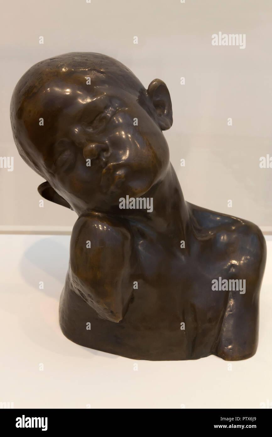 Suffering, Constantin Brancusi, 1907,Art Institute of Chicago, Chicago, Illinois, USA, North America - Stock Image