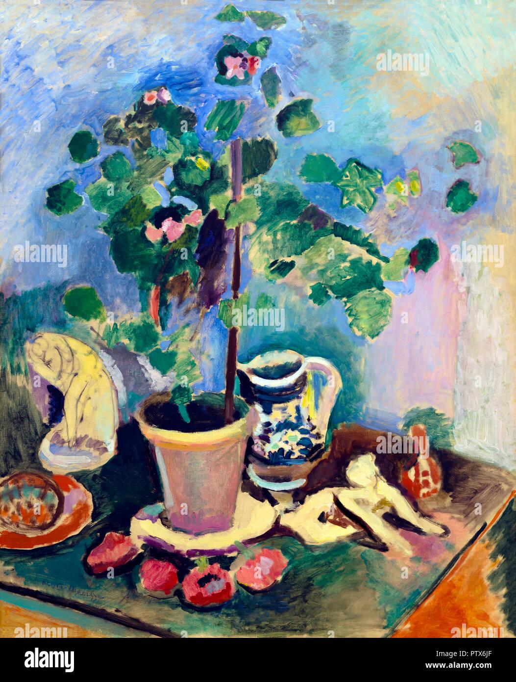 The Geranium, Henri Matisse, 1906, Art Institute of Chicago, Chicago, Illinois, USA, North America - Stock Image