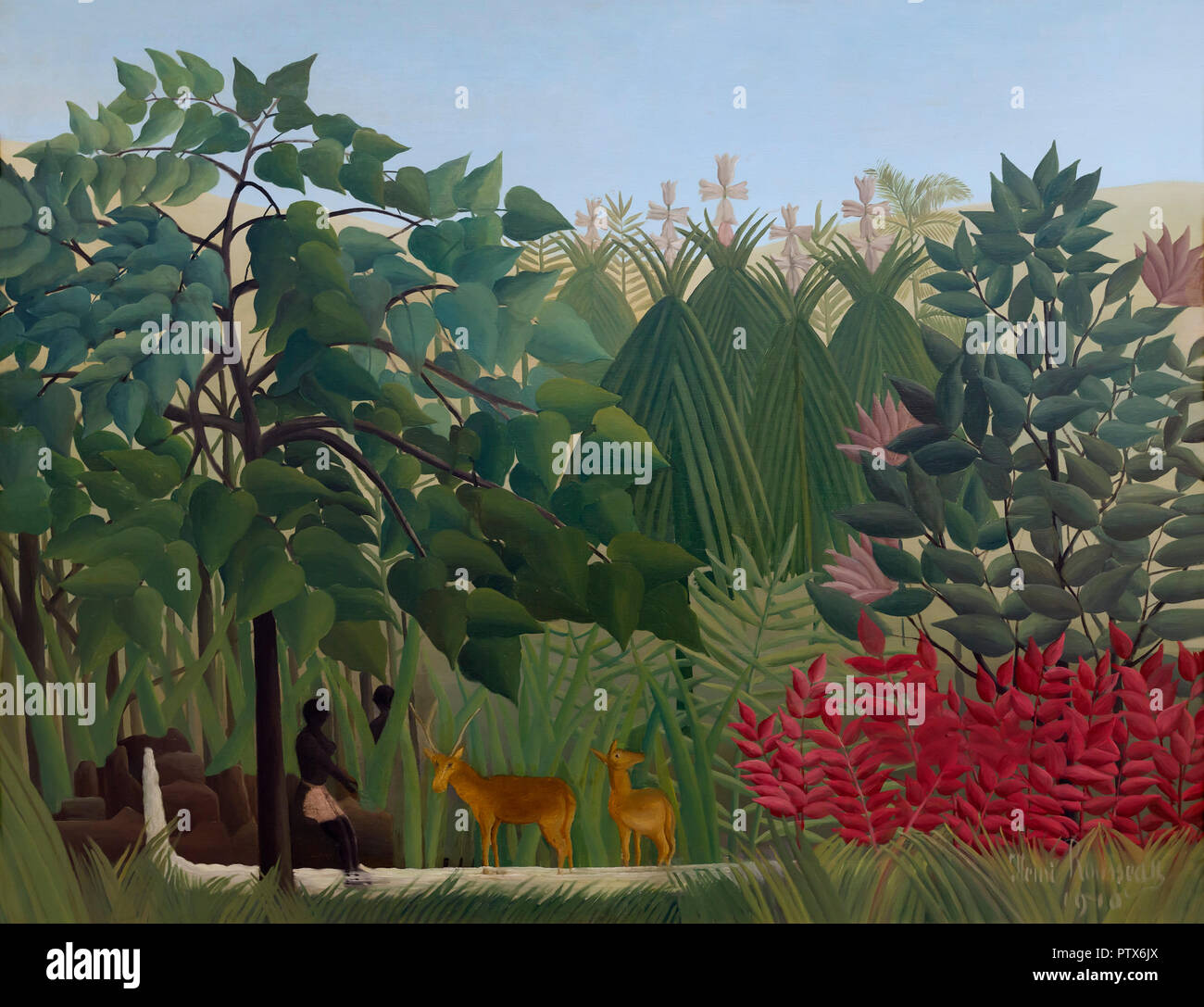 The Waterfall, Henri Rousseau, 1910, Art Institute of Chicago, Chicago, Illinois, USA, North America - Stock Image