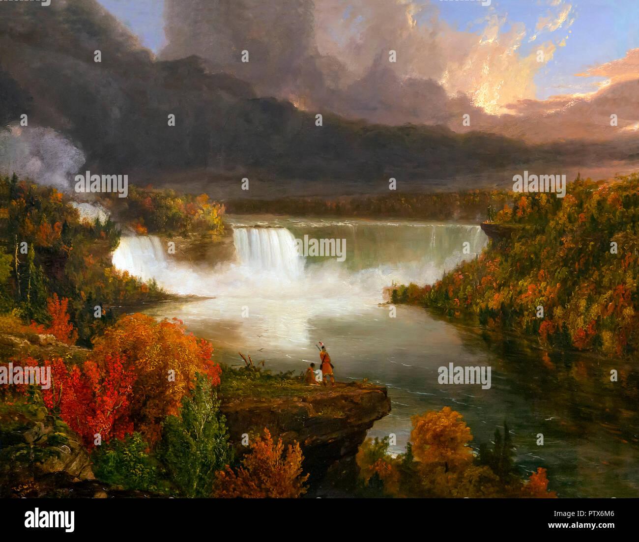 Distant View of Niagara Falls, Thomas Cole, 1830, Art Institute of Chicago, Chicago, Illinois, USA, North America - Stock Image