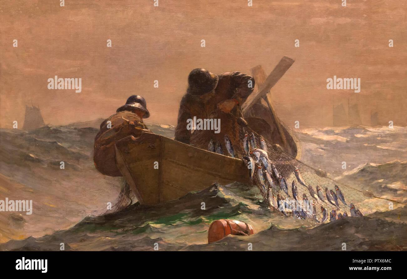 The Herring Net, Winslow Homer, 1885, Art Institute of Chicago, Chicago, Illinois, USA, North America - Stock Image