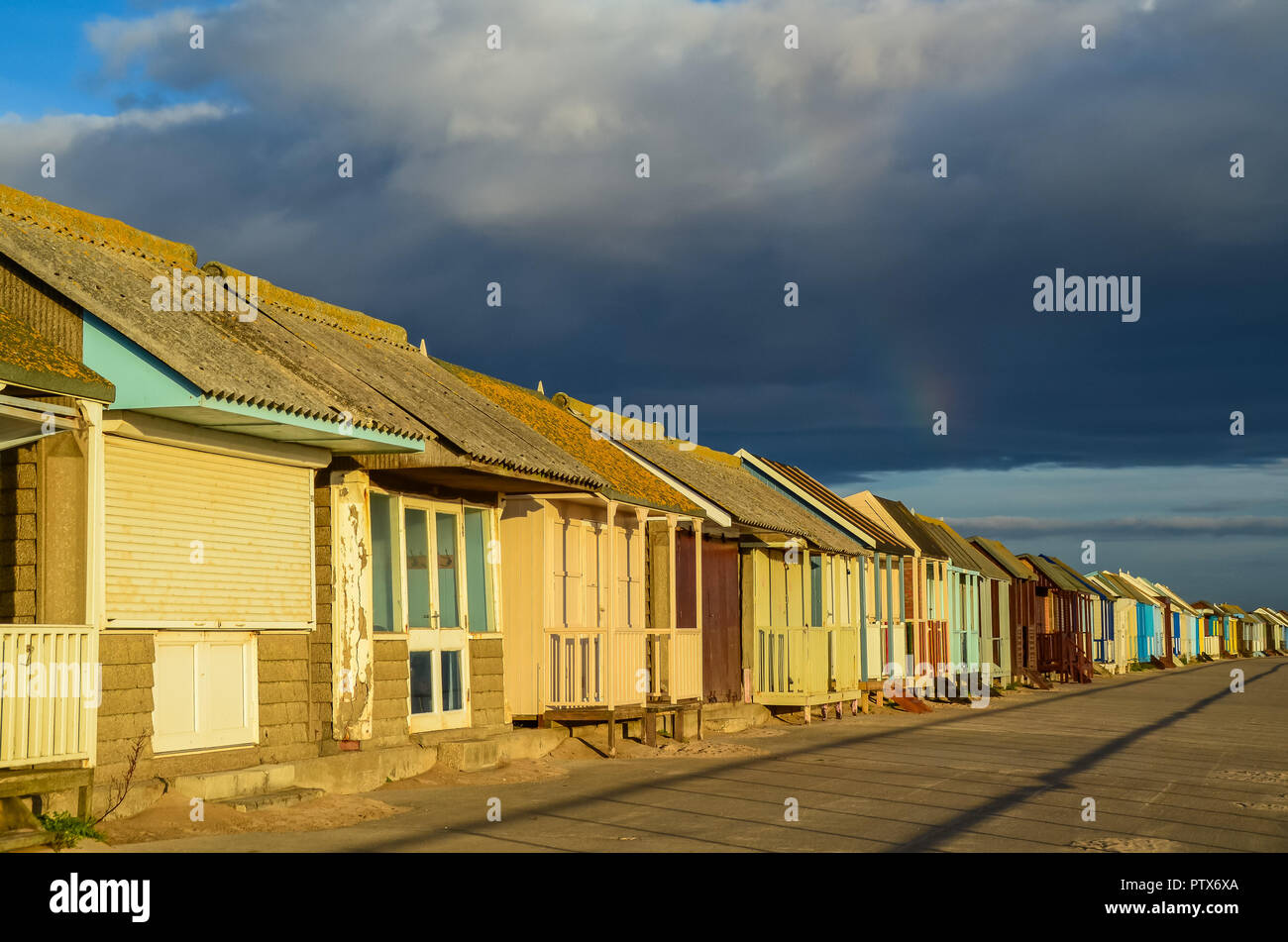 Beach Huits at Sutton on Sea - Stock Image