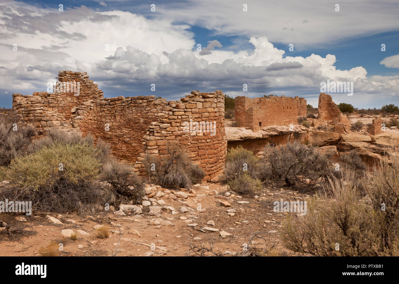 The ruins at Hovenweep National Monument, Utah, USA - Stock Image