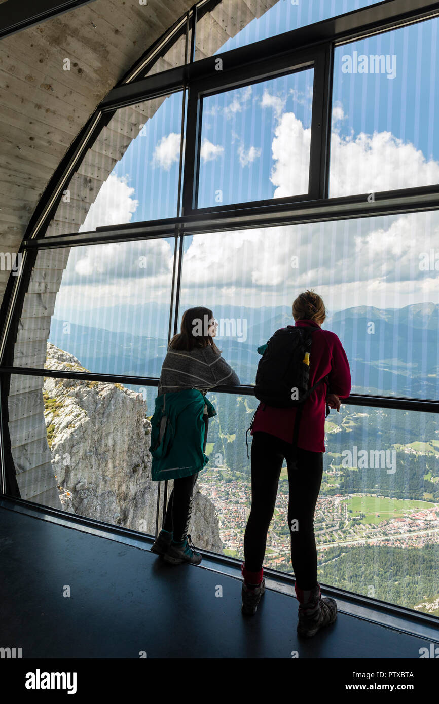 Inside the information centre on the Karwendel Mountain, Mittenwald, Bavaria, Germany - Stock Image