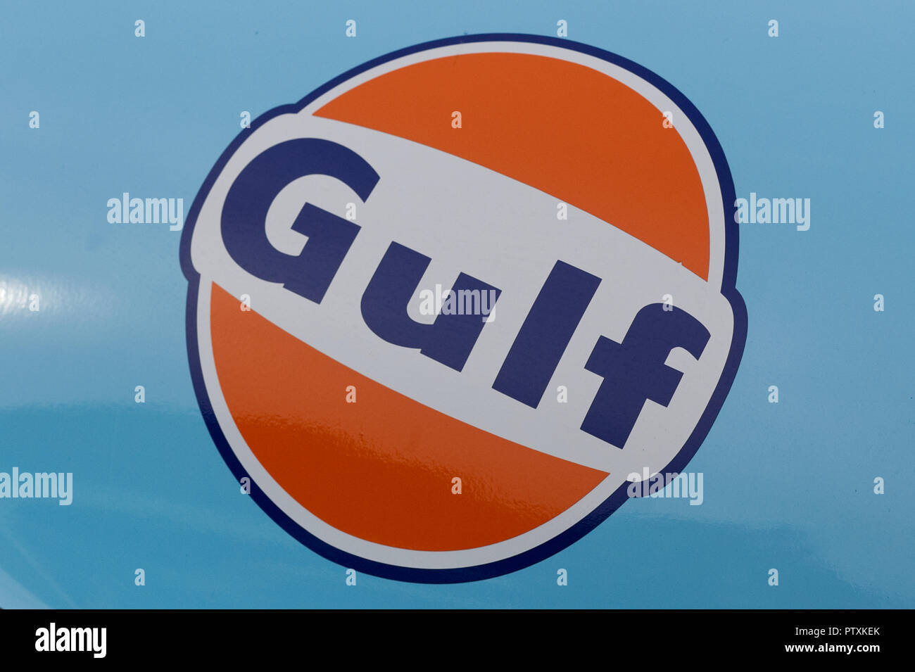 authentic Ford GT40, with Gulf sponsorship - Stock Image