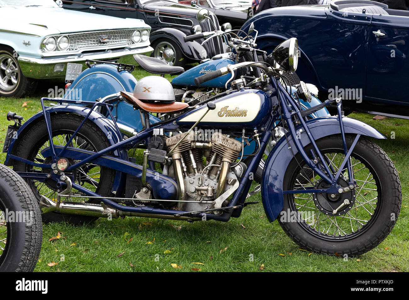 Vintage Indian Motorcycle High Resolution Stock Photography And Images Alamy