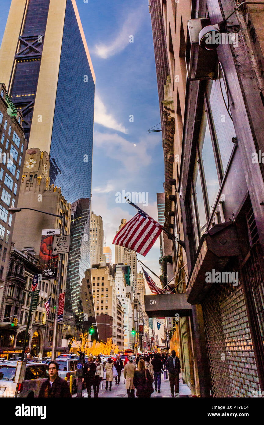 West 57th Street Manhattan _ New York, New York, USA - Stock Image