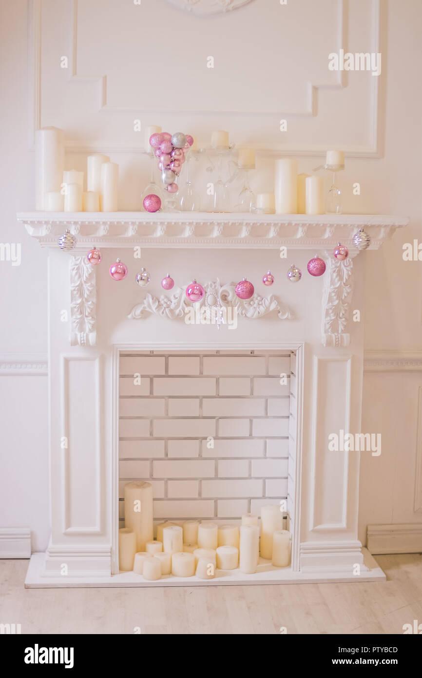 Decorative Mantle Piece Ornament Ornamental Candle Scene