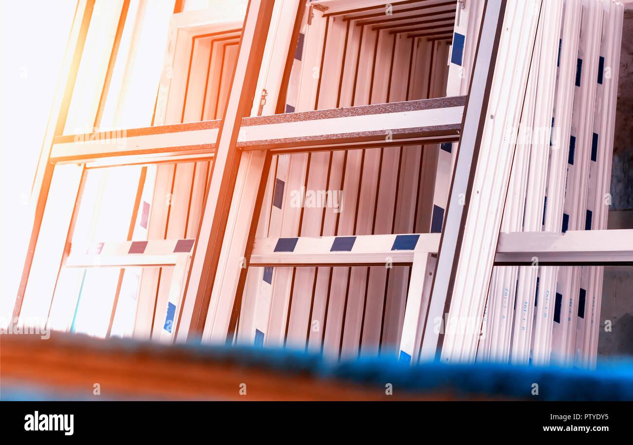 Ventanas Pvc Stock.Production Of Pvc Windows Large Pvc Frames Sun Window
