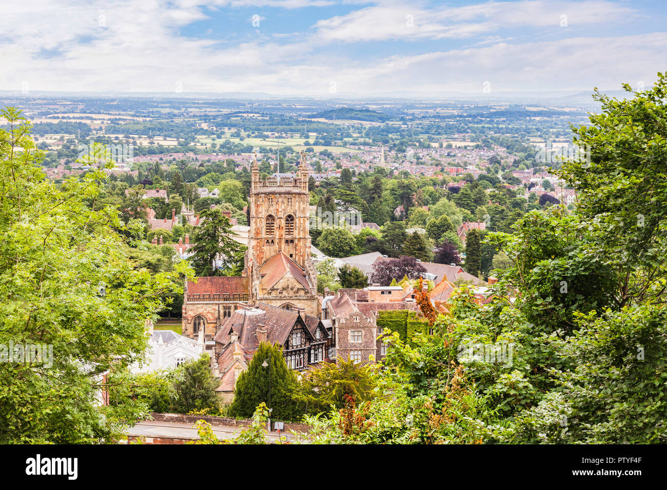 Great Malvern Priory, Great Malvern, Worcestershire, England - Stock Image