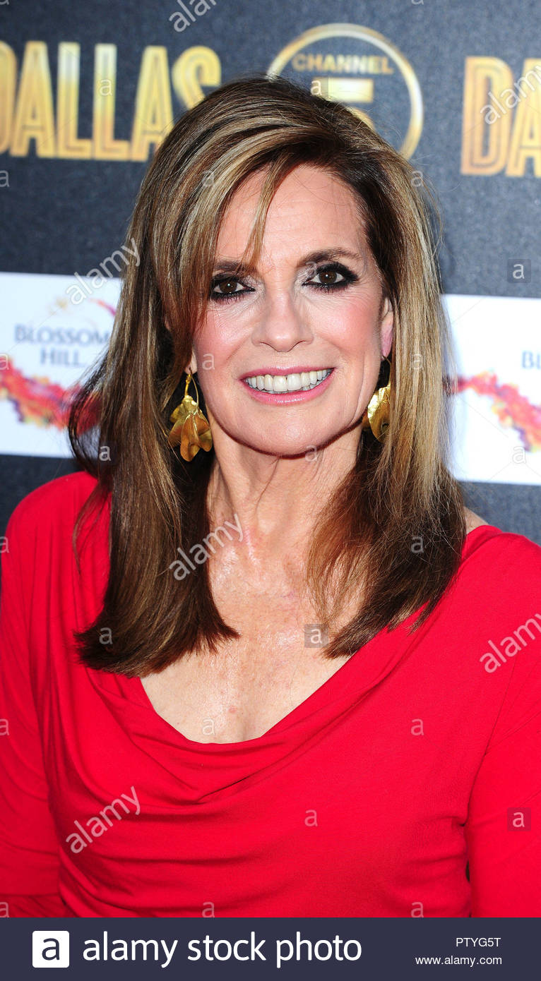 File photo dated 21/08/12 of Linda Gray, who compared Donald Trump to JR Ewing, the fictional oil baron and villain from the revered US soap. - Stock Image