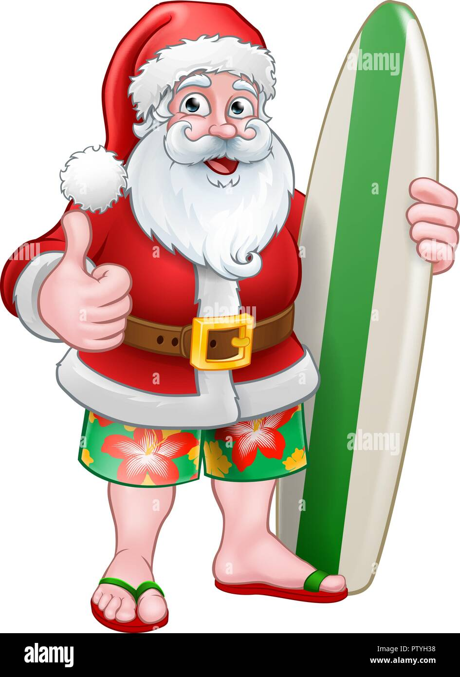 christmas santa claus surf cartoon stock vector image art alamy https www alamy com christmas santa claus surf cartoon image221882284 html