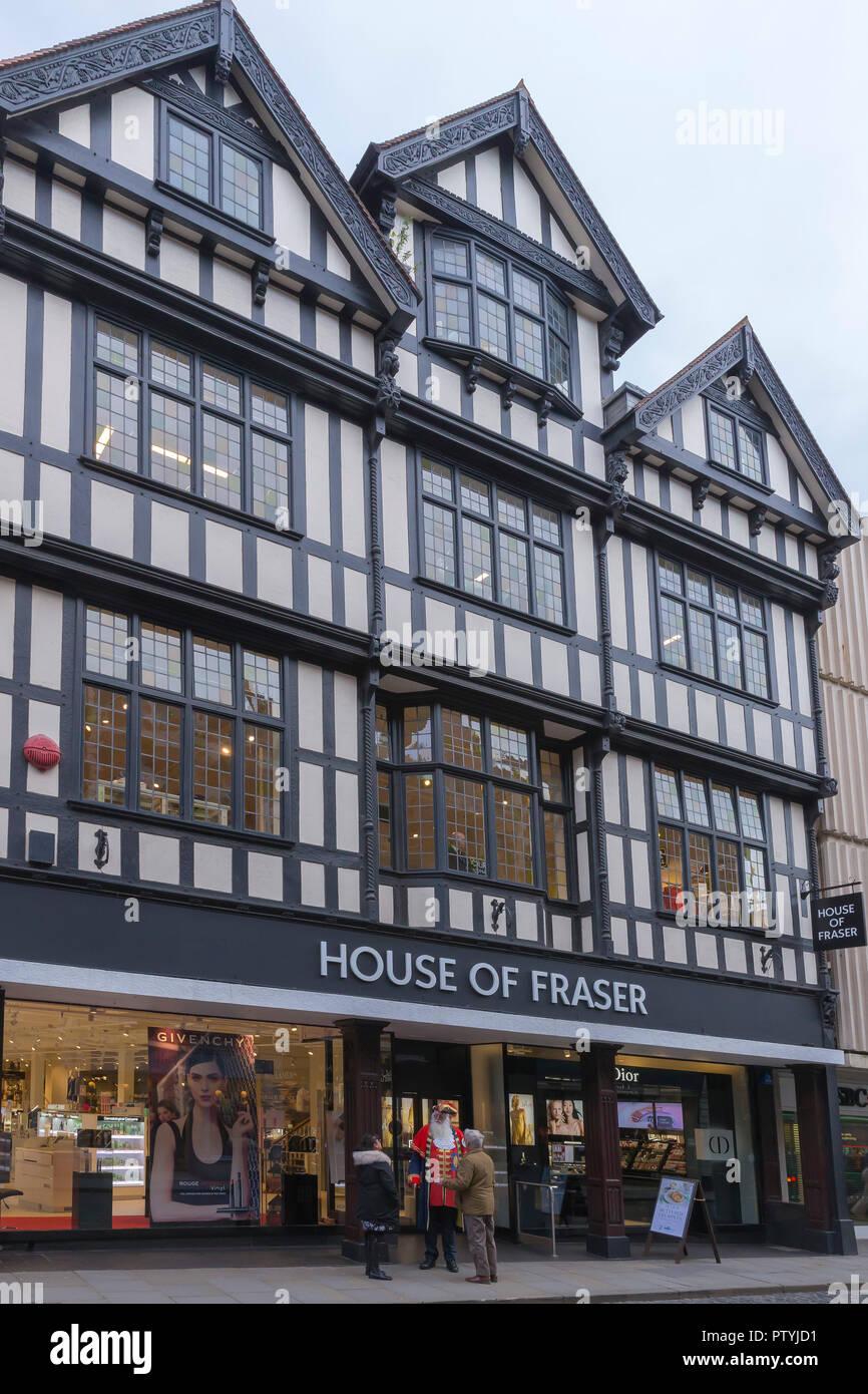 House of Fraser Store, town centre, Shrewsbury, Shropshire, England, UK, GB, - Stock Image