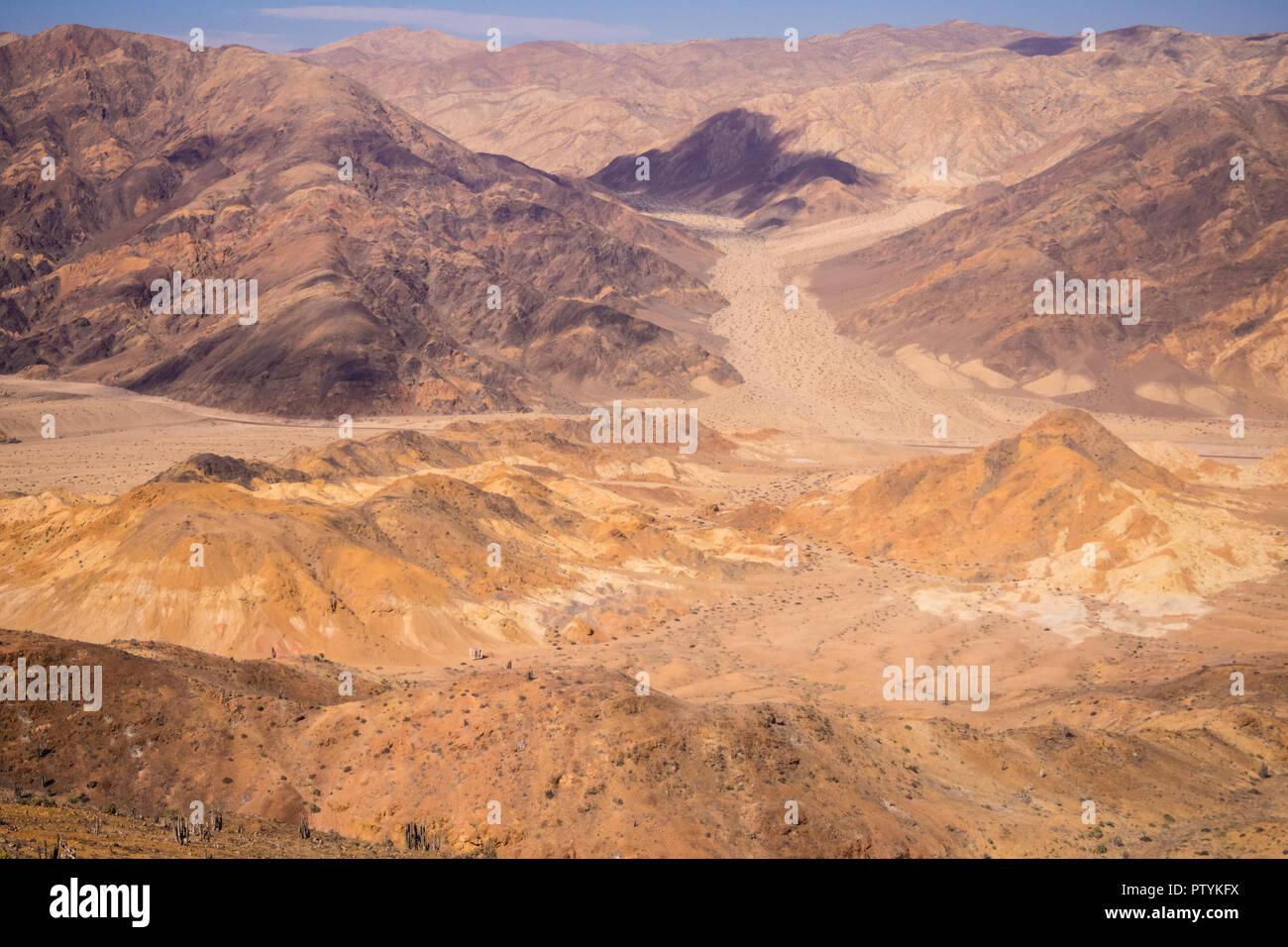Pan de Azucar National Park, in the Atacama Desert is the best place to understand how life grows in the desert, coastline - Stock Image