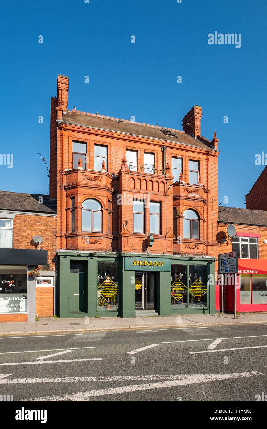 13-15 Nantwich Road building in Crewe Cheshire UK - Stock Image