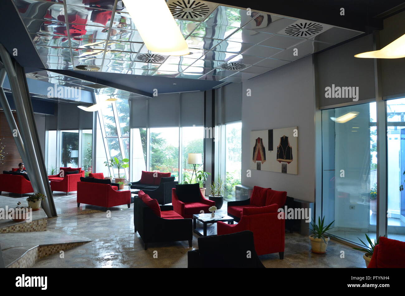 dajti tower hotel tirana albania Stock Photo