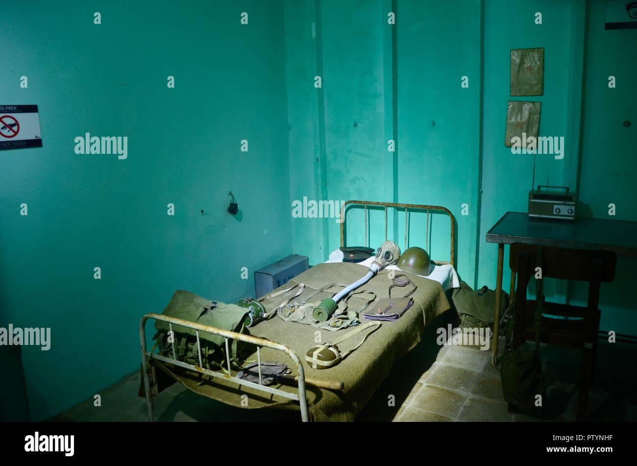 bunkart 1 bunker museum in northern tirana albania - Stock Image