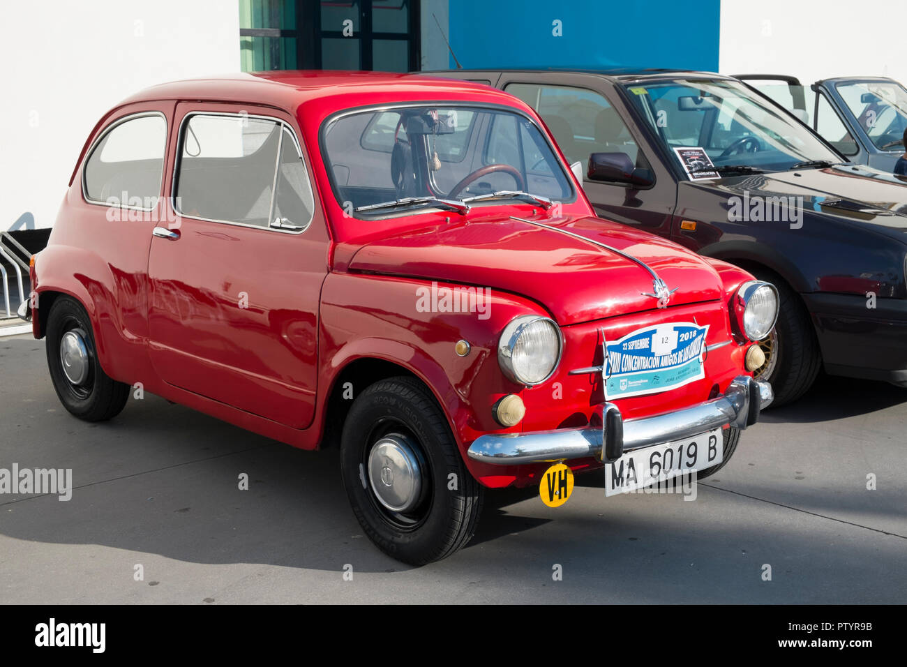 1972 Seat 600. Classic car meeting in Torremolinos, Málaga, Spain. - Stock Image
