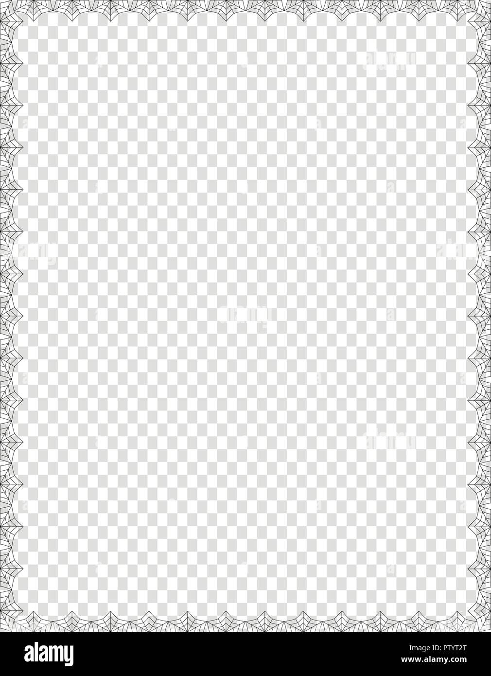 vector elegant black spiderweb border with copy space for text