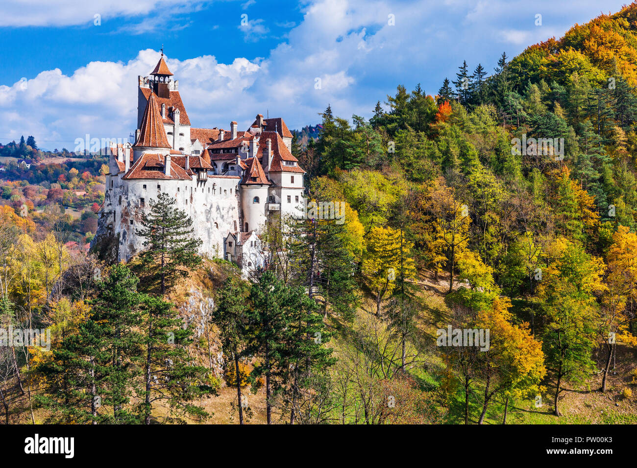 Brasov, Transylvania. Romania. The medieval Castle of Bran, known for the myth of Dracula. Stock Photo