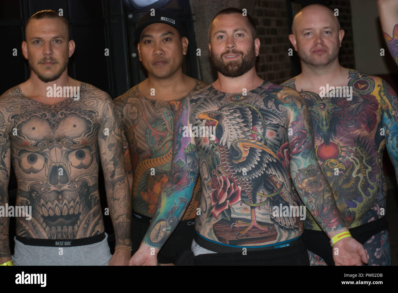 Back Stage With The Contestants Of The Full Body Art Work London Tattoo Convention 2018 Stock Photo Alamy