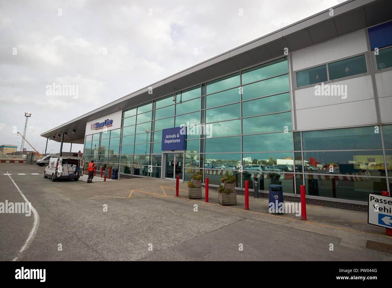 passenger terminal at the irish sea stena line terminal in birkenhead liverpool - Stock Image