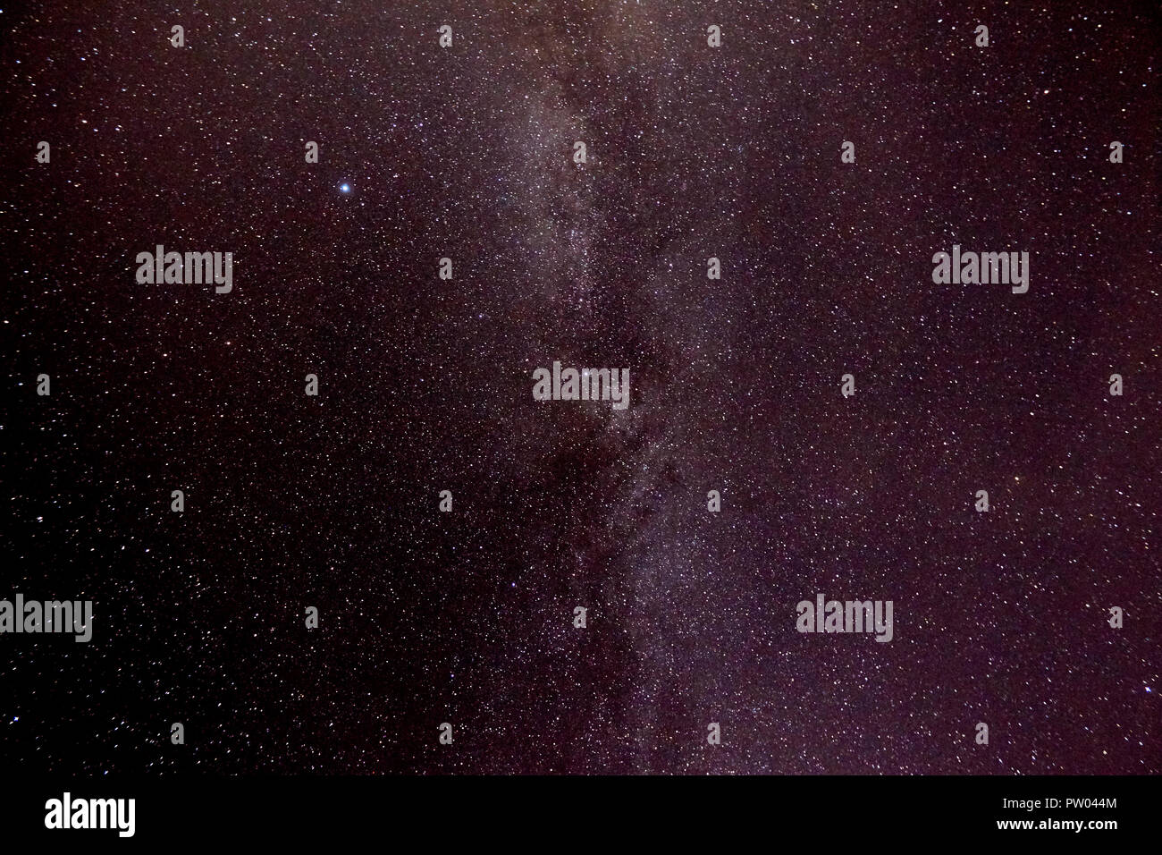 stars in the milky way as seen in september night sky in the west coast of ireland - Stock Image