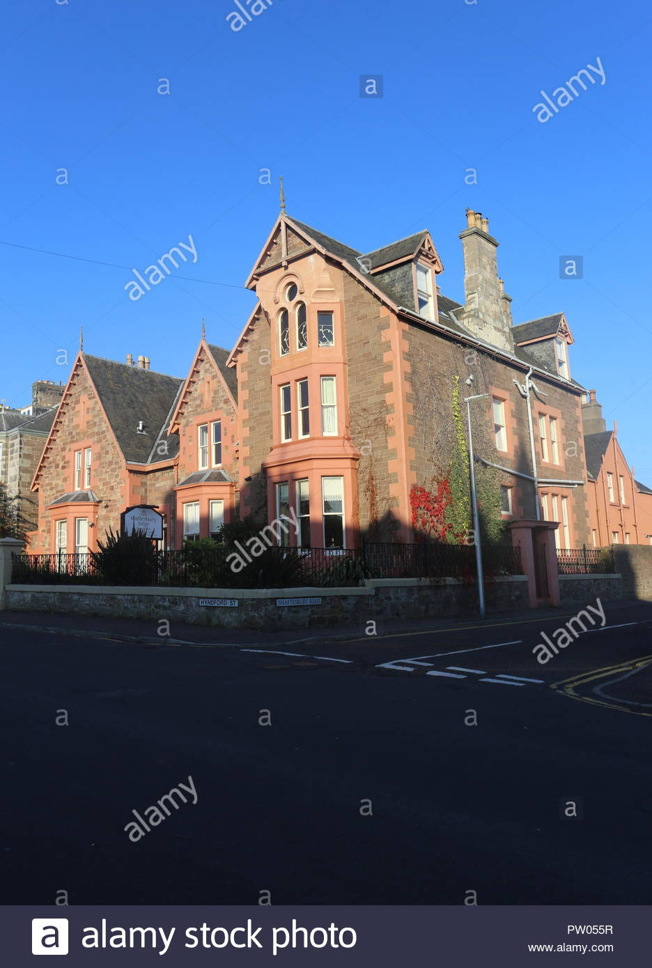 Exterior of Shaftesbury Lodge Guest House Dundee Scotland  October 2018 - Stock Image