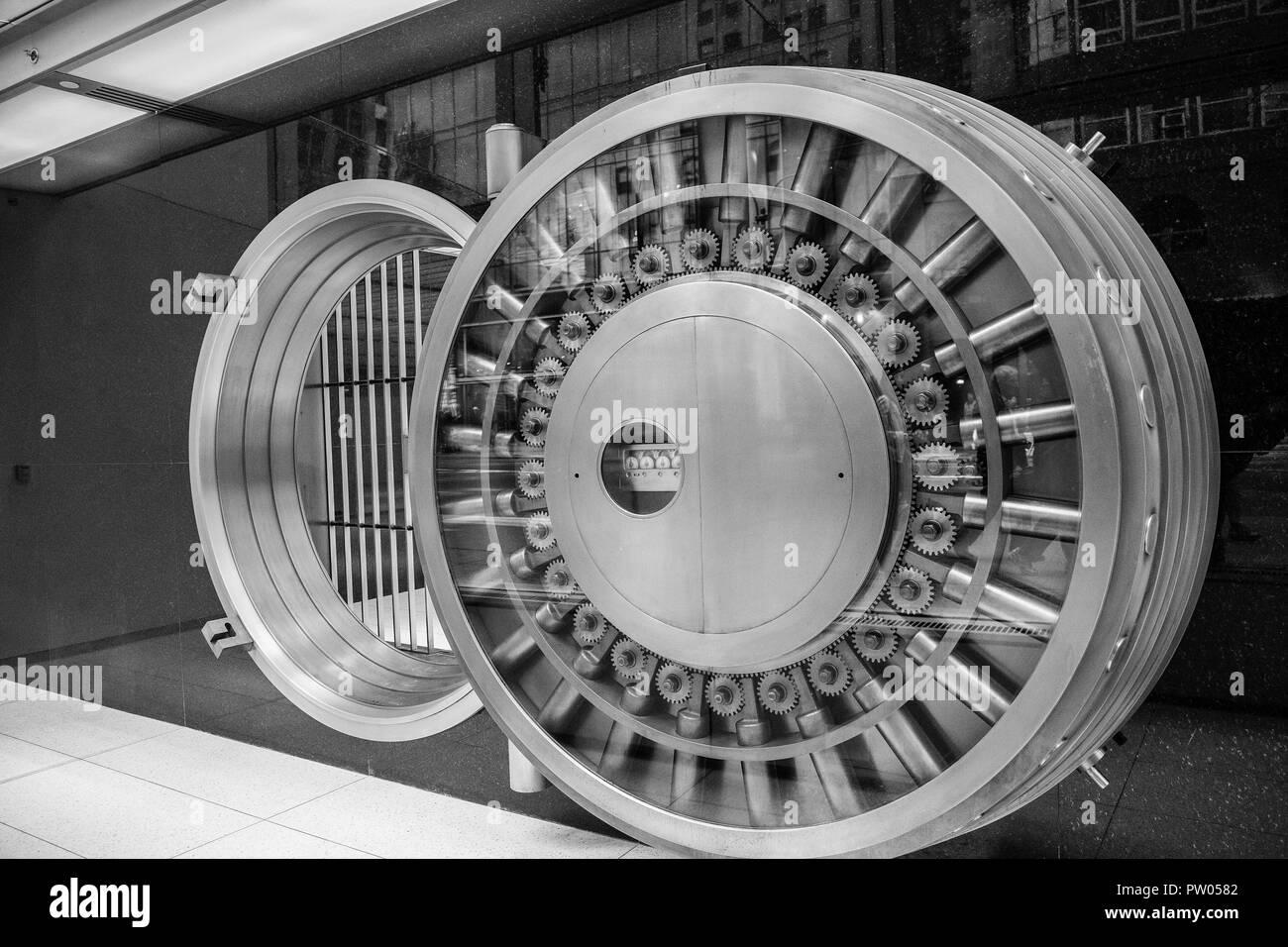 Bank Vault Open Door - Stock Image