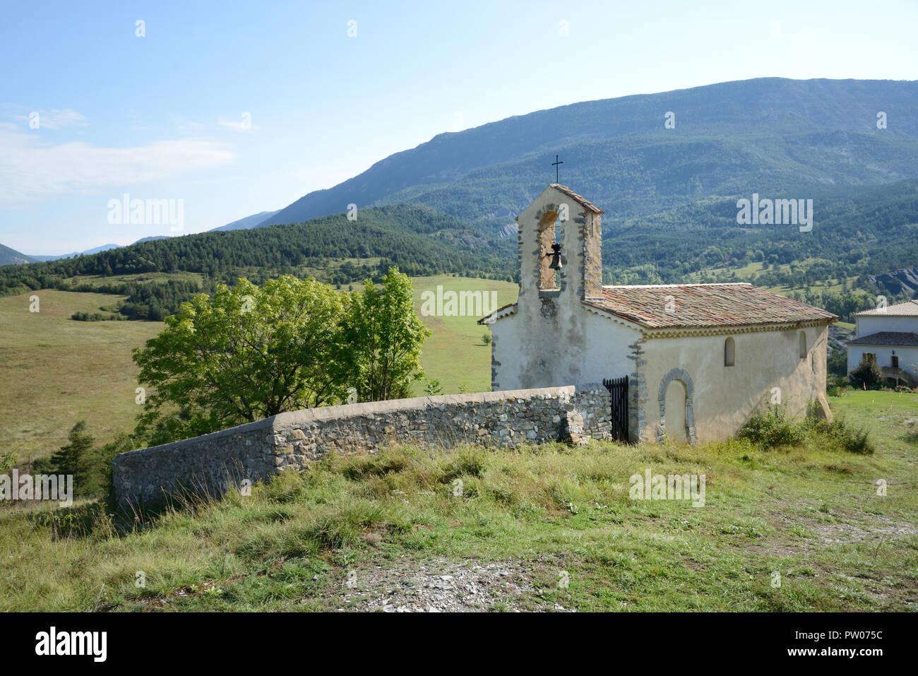 Chapelle de Méouilles or Rural Chapel of Meouilles Saint André-les-Alpes Alpes-de-Haute-Provence Provence France - Stock Image