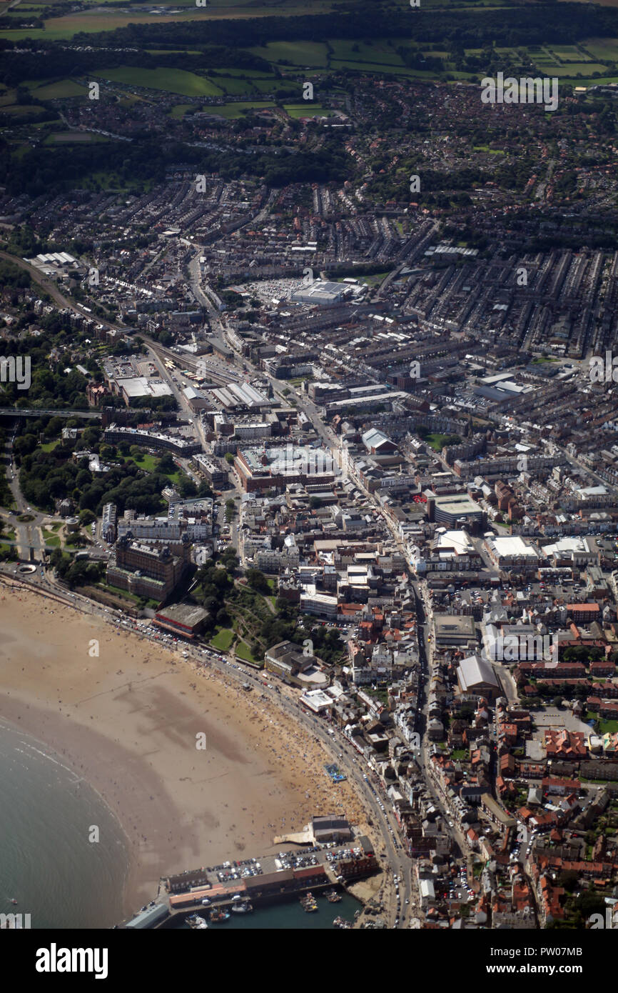 Scarborough Main Street from seafront to Falsgrave and Stepney - Stock Image