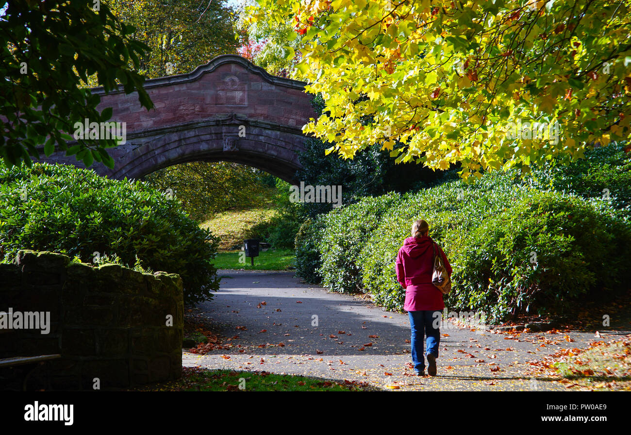 The Dingle, in Port Sunlight Village, in the Wirral. Image taken in October 2016. - Stock Image