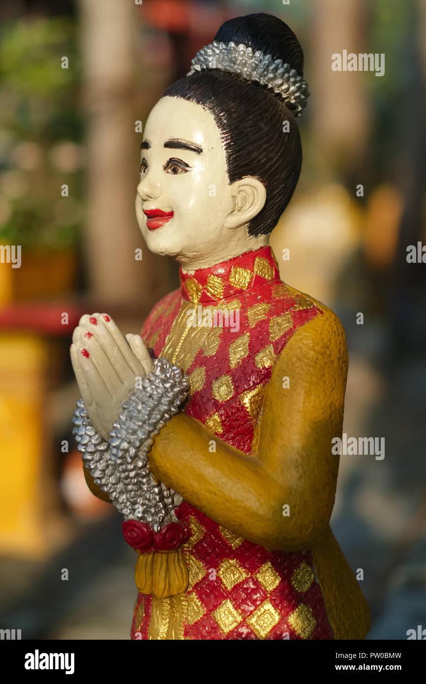 Traditional Thai Greeting Stock Photos Traditional Thai Greeting