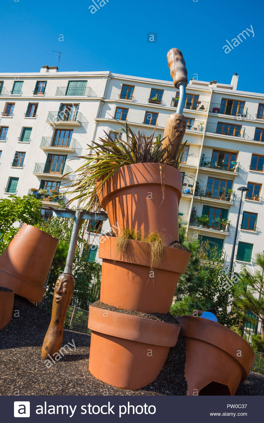 Nantes, Jardin des Plantes, Spielplatz Depodepo von Claude Ponti ...