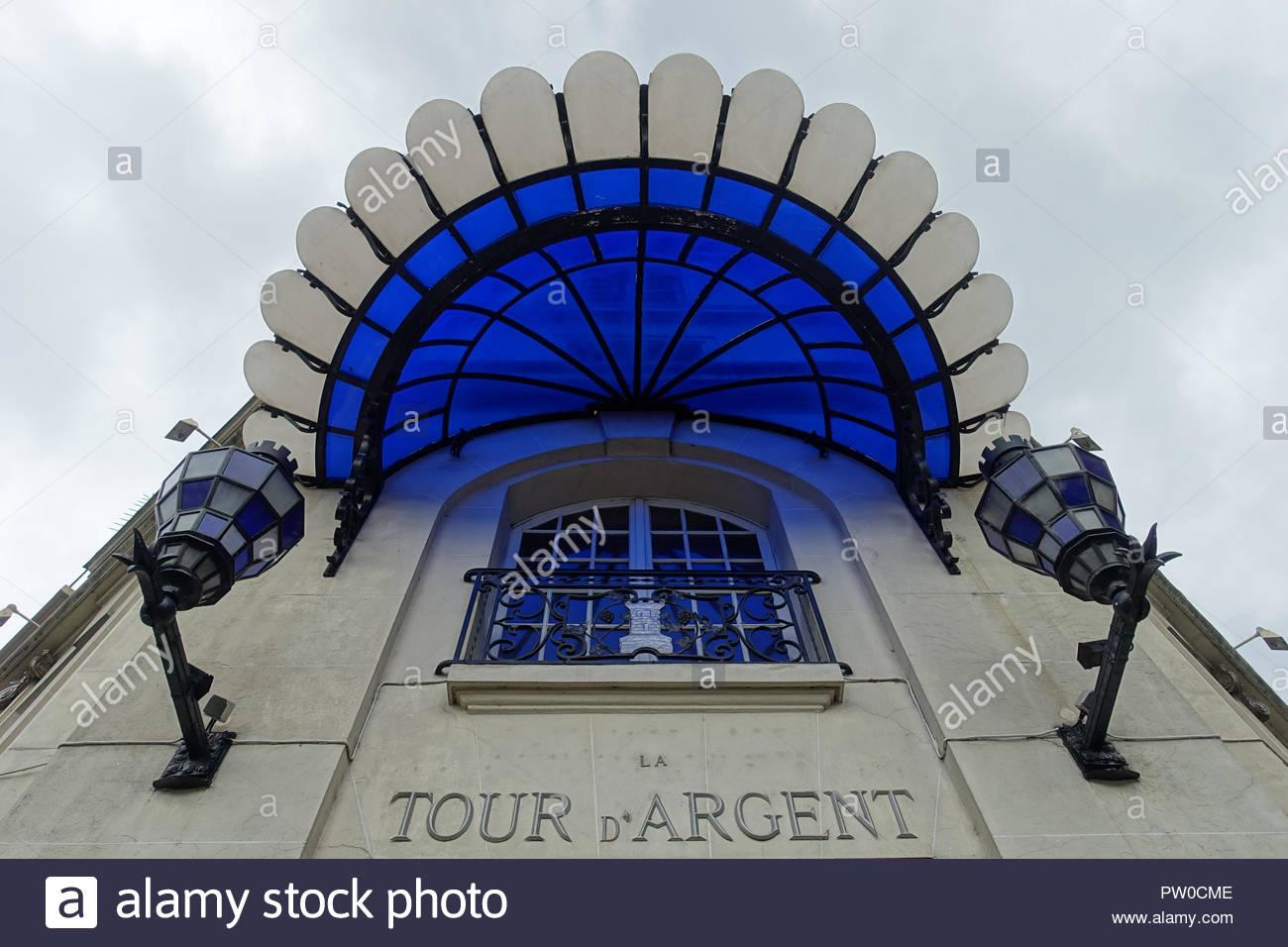Paris, Restaurant La Tour d Argent (La Tour díArgent in Paris ist ein weltweit bekanntes Restaurant. Nach eigenen Angaben wurde es im Jahr 1582 vom Ko - Stock Image