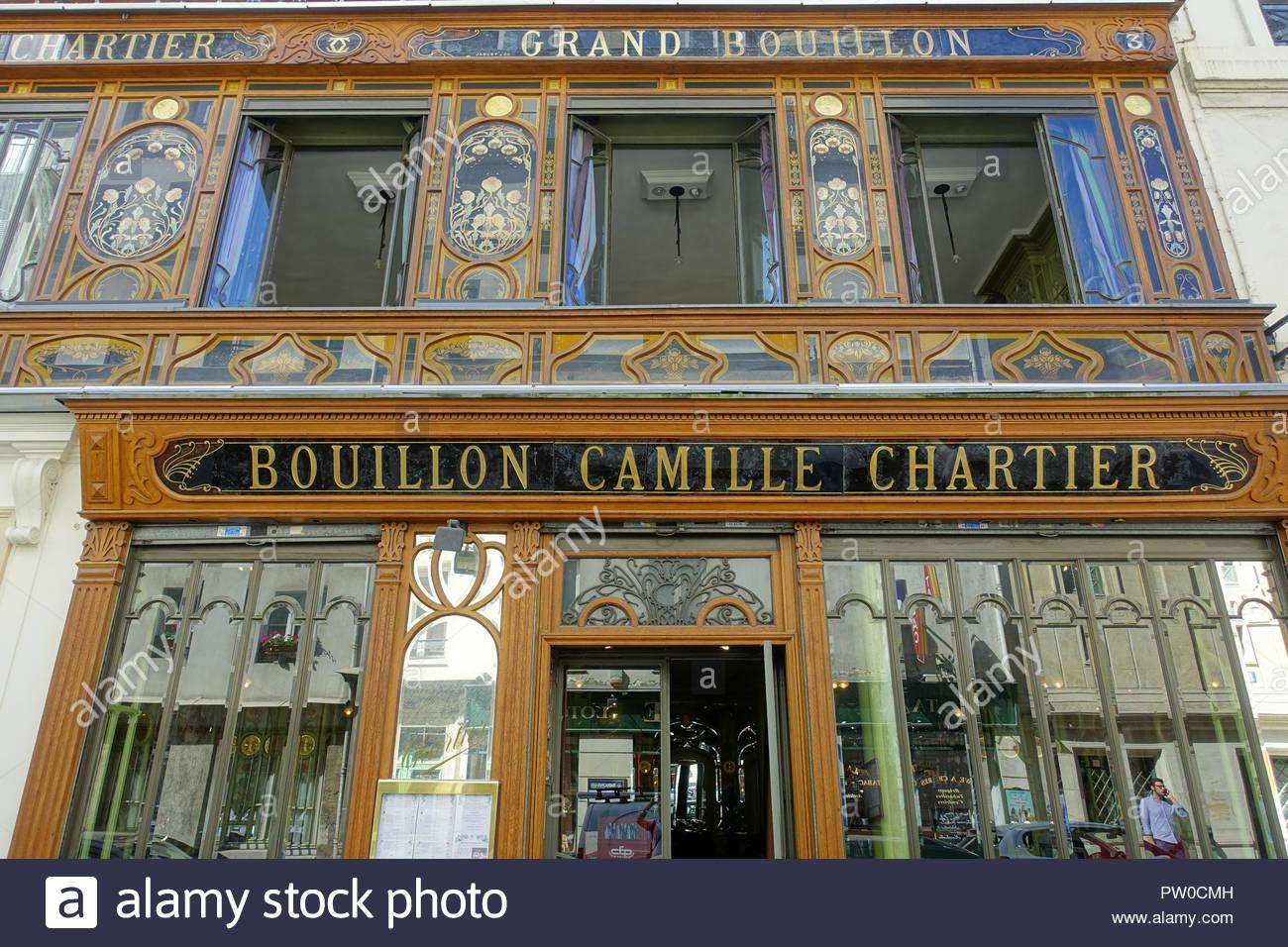 Paris, Bouillon Racine (Bouillon Racine ist ein bekanntes Restaurant in Paris, das 1906 eröffnet wurde. .3 Rue Racine, 75006.) - Stock Image