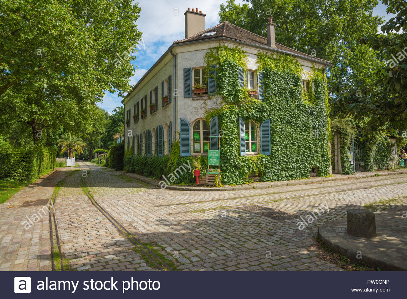 Paris, Park von Bercy, Parc de Bercy - Stock Image