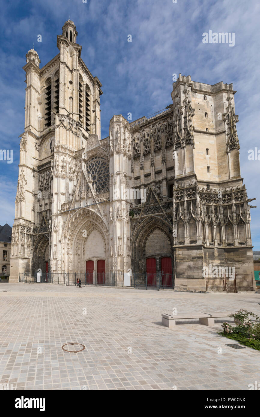 Saint Peter and Paul Cathedral at Troyes, France - Stock Image