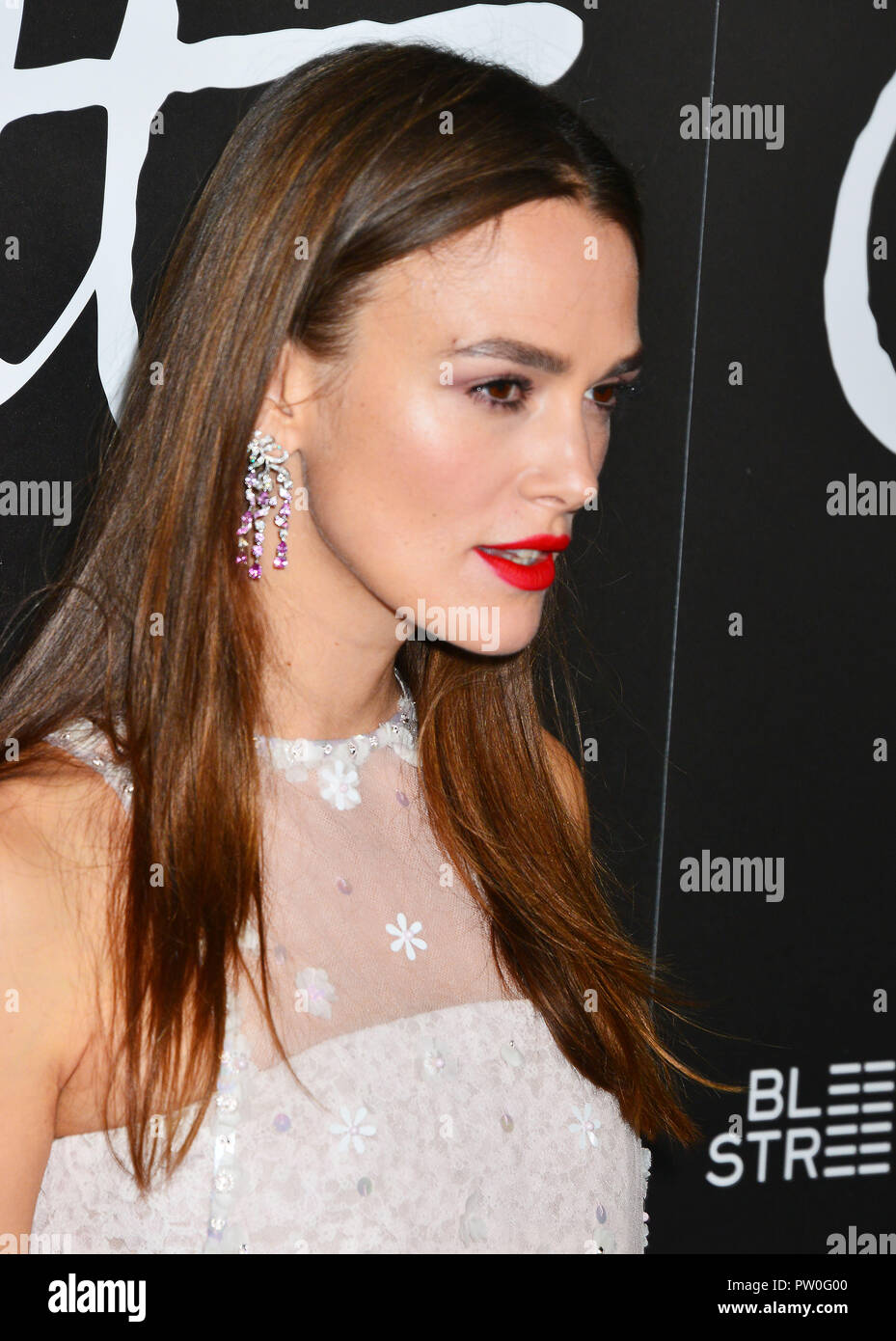 Keira Knightley 027 attends the premiere of Bleecker Street Media's 'Colette' at Samuel Goldwyn Theater on September 14, 2018 in Beverly Hills, California - Stock Image