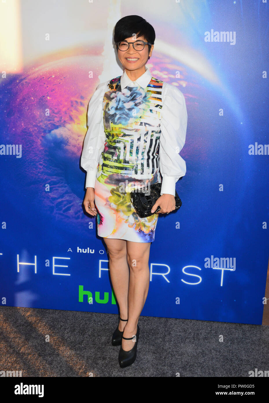 Keiko Agena 015 attends the premiere of Hulu's 'The First' on September 12, 2018 in Los Angeles, California - Stock Image