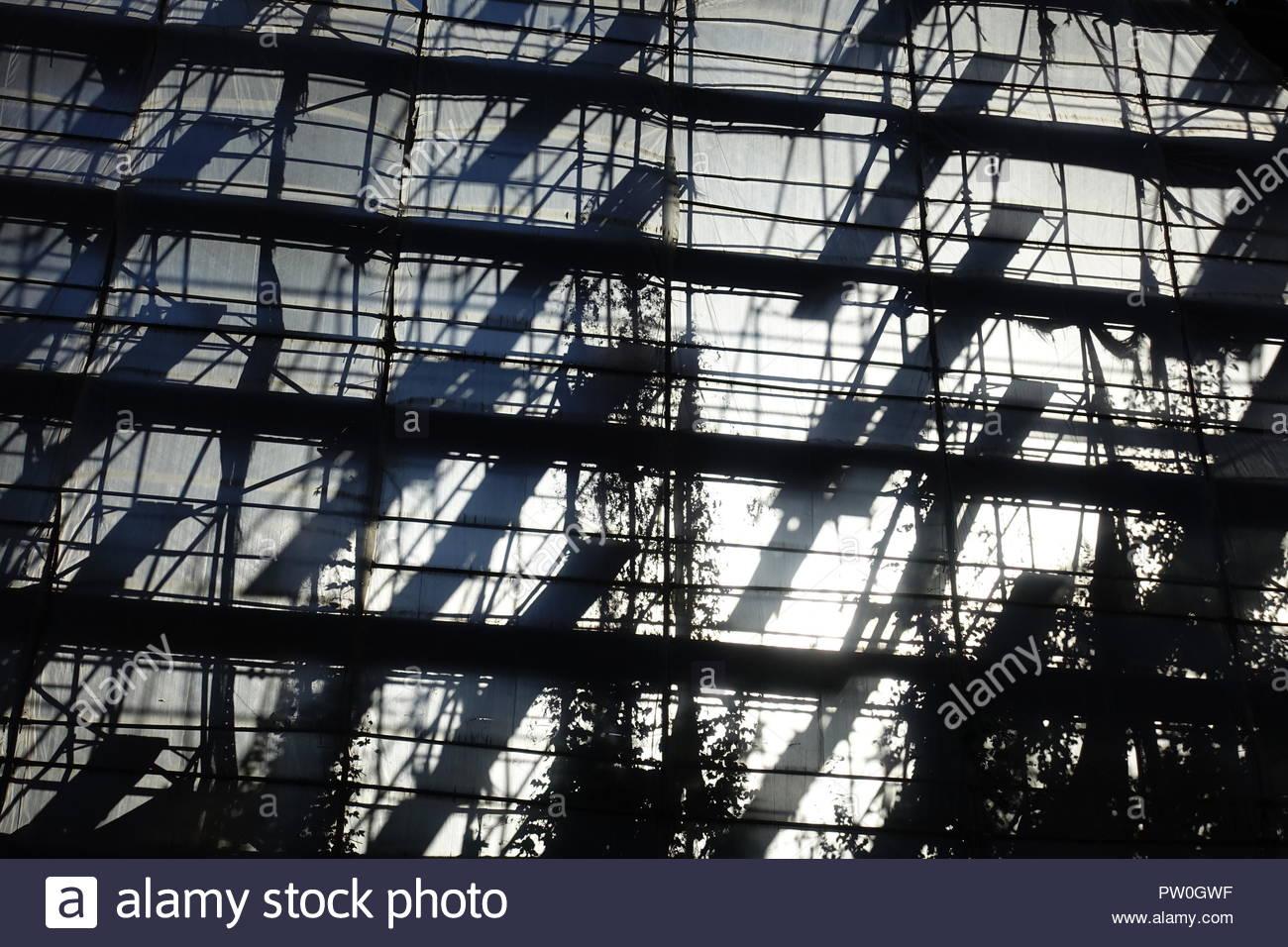 Berlin, Gerüst am Modell der Berliner Bauakademie - Stock Image