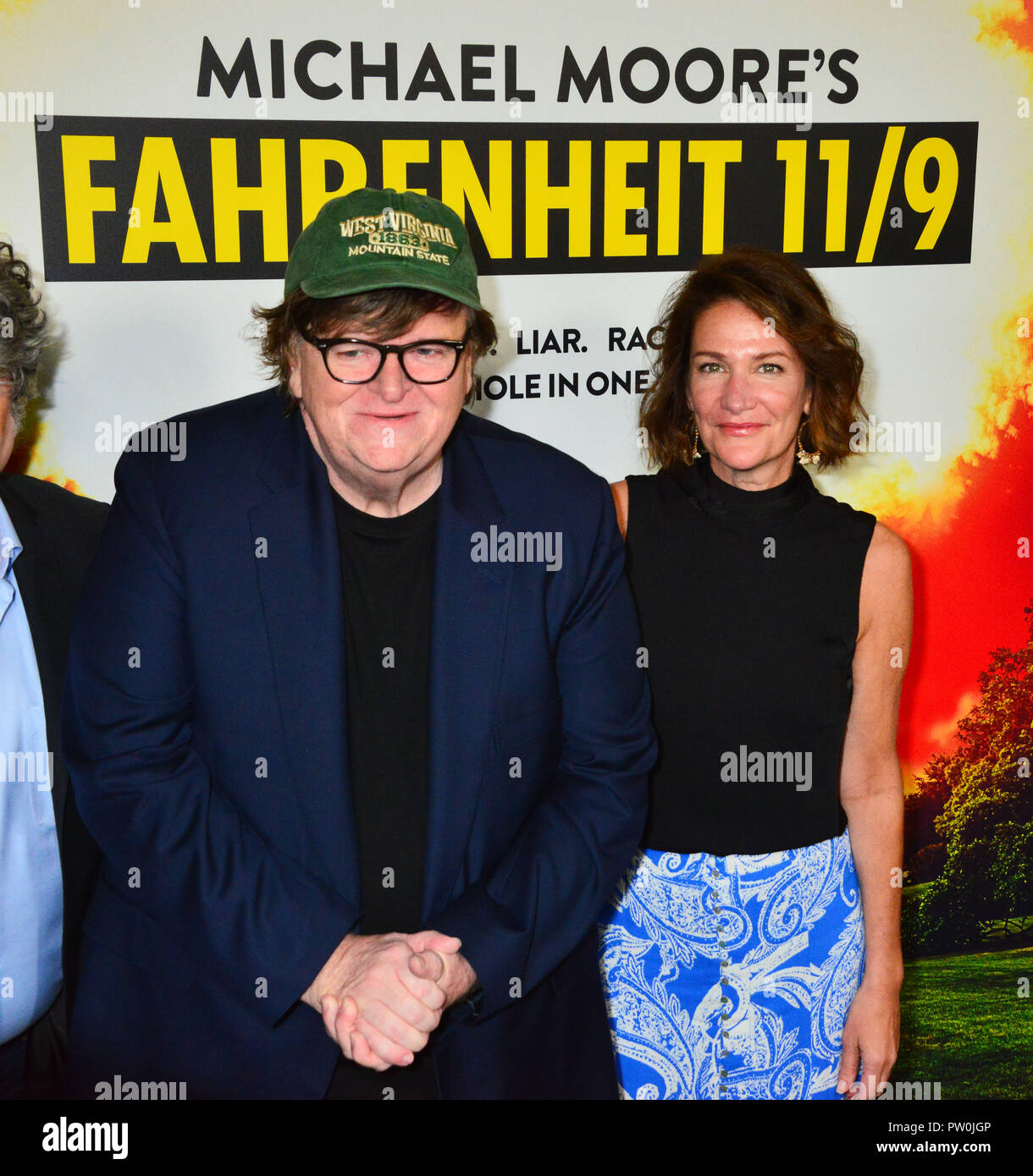 Michael Moore 055 attends the Los Angeles premiere of Briarcliff Entertainment's 'Fahrenheit 11/9' held at Samuel Goldwyn Theater on September 19, 2018 in Beverly Hills, California. Stock Photo