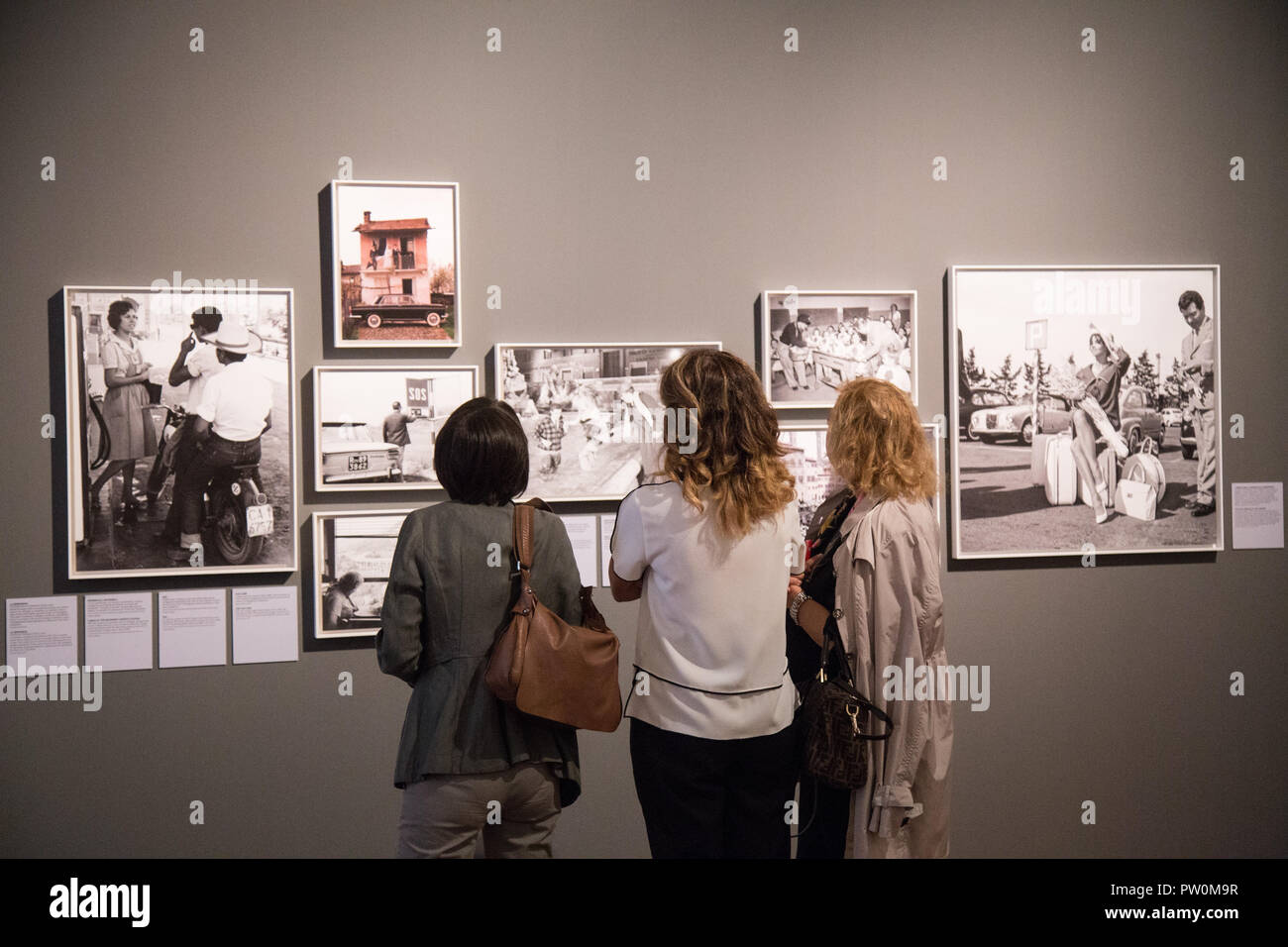 Roma, Italy. 11th Oct, 2018. Inauguration of the exhibition 'Il sorpasso. Quando l'Italia si mise a correre, 1946-1961' at the Museum of Rome in Palazzo Braschi Credit: Matteo Nardone/Pacific Press/Alamy Live News - Stock Image