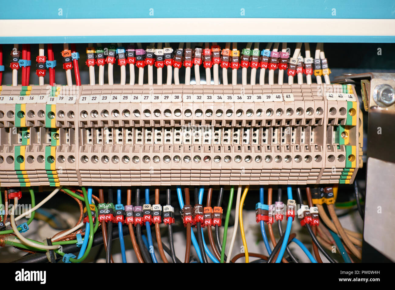 Stupendous Wire Connector Terminal Block Stock Photos Wire Connector Terminal Wiring 101 Xrenketaxxcnl