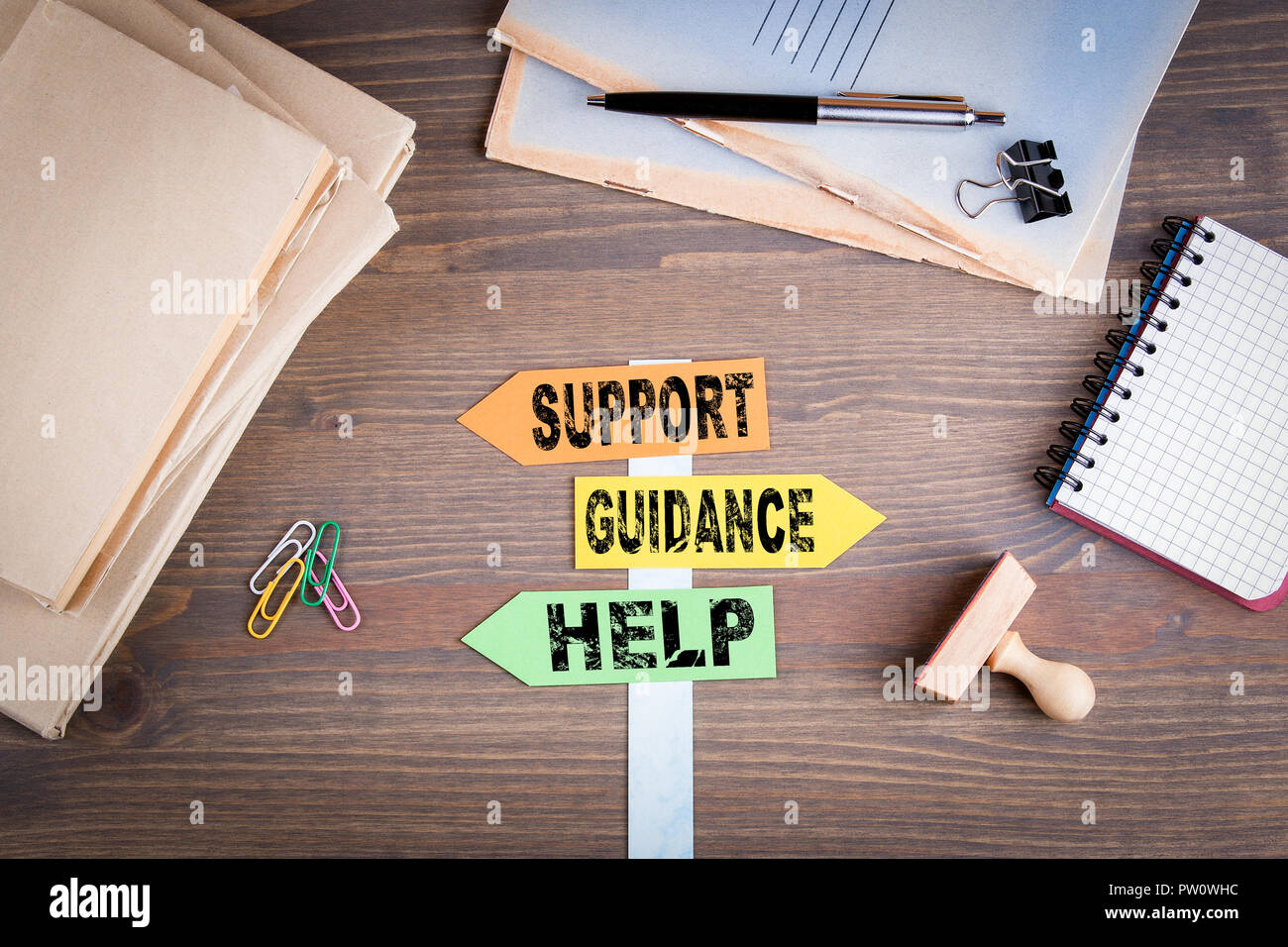 Support, Guidance and Help concept - Stock Image
