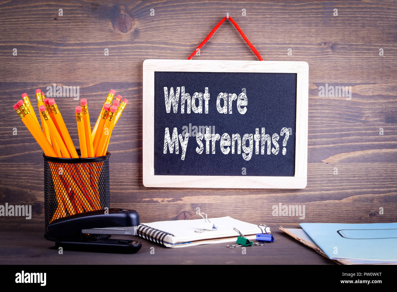 what are my strengths question - Stock Image